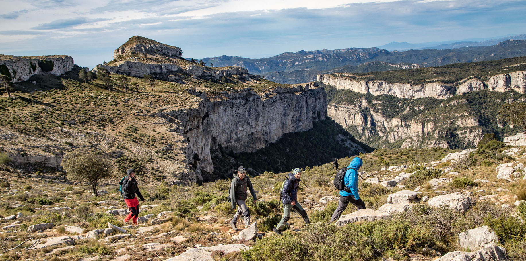 Les muntanyes de Llaberia són l'escenari de la 2a Marxa de Colldejou