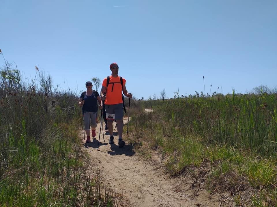 La Nòrdica de l'Agrupe deixa la platja per endinsar-se al Parc Natural del Montnegre-Corredor